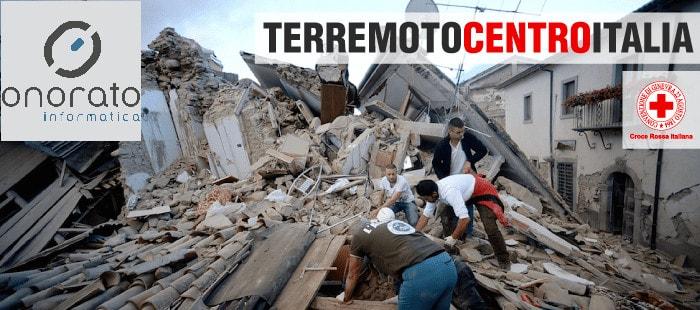 Onorato Informatica e Croce Rossa insieme per sostenere le vittime del terremoto del centro Italia